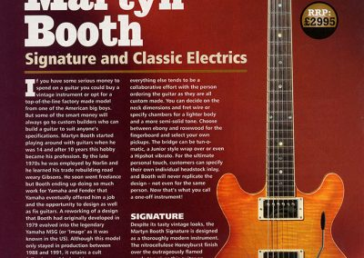 Martyn Booth  Signature and Classic Review – Guitar and Bass Magazine