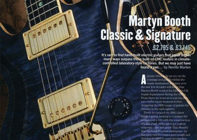 Martyn Booth Classic and Signature Review – Guitarist Magazine