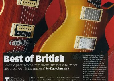 Deluxe On Test – Martyn Booth Deluxe – Guitarist Magazine