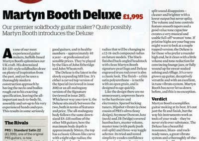 Our premier solid body guitar maker? – Martyn Booth Deluxe Review – Guitarist Magazine