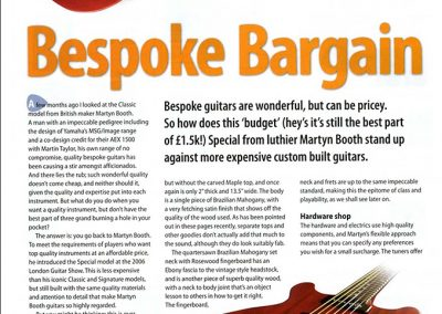 Martyn Booth Special Review – Music Mart 2006